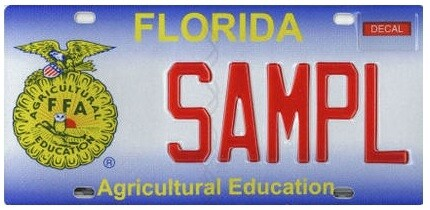 Agricultural Education Florida Specialty License Plate