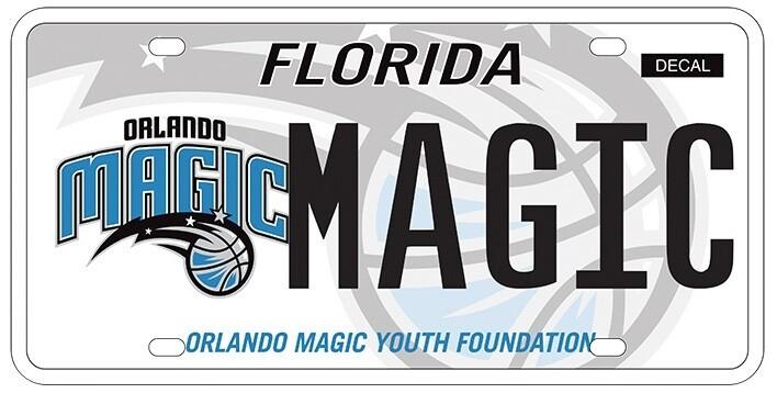 Orlando Magic Florida Specialty License Plate