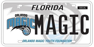 Orlando Magic Florida Specialty License Plate