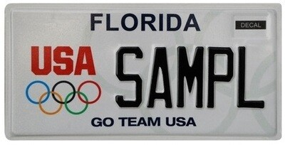 US Olympics Florida Specialty License Plate