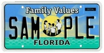 Family Values Florida Specialty License Plate