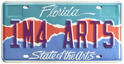 State Of The Arts Florida Specialty License Plate
