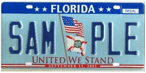 United We Stand Florida Specialty License Plate
