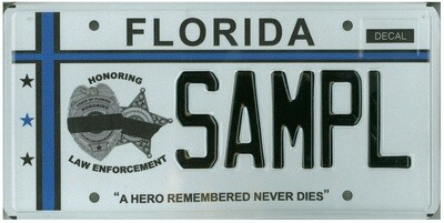 Fallen Law Enforcement Officers Florida Specialty License Plate