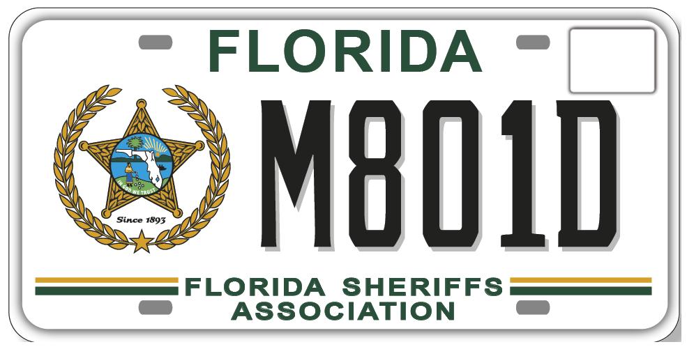 Florida Sheriffs Association Specialty License Plate