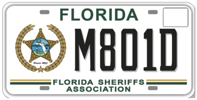 Florida Sheriffs Association Specialty License Plate
