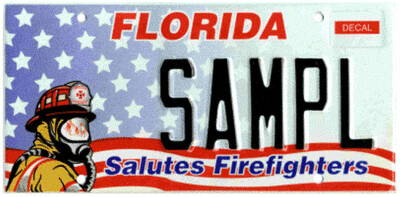 Salutes Firefighters Florida Specialty License Plate