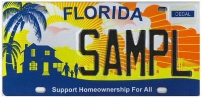 Support Home Ownership Florida Specialty License Plate