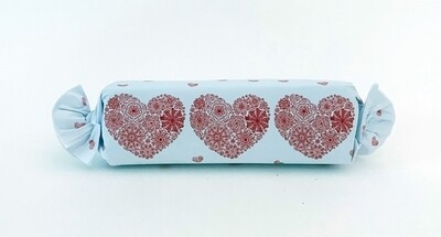 Assorted Flavour Caramel Toffee  in a romantic hearts wrapper.