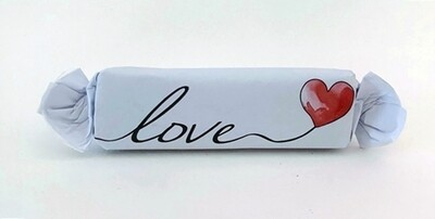 """Assorted Flavour Caramel Toffee  in a beautiful """"Love"""" or """"liefde"""" wrapper."""
