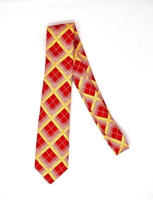 ISU Tartan Silk Tie