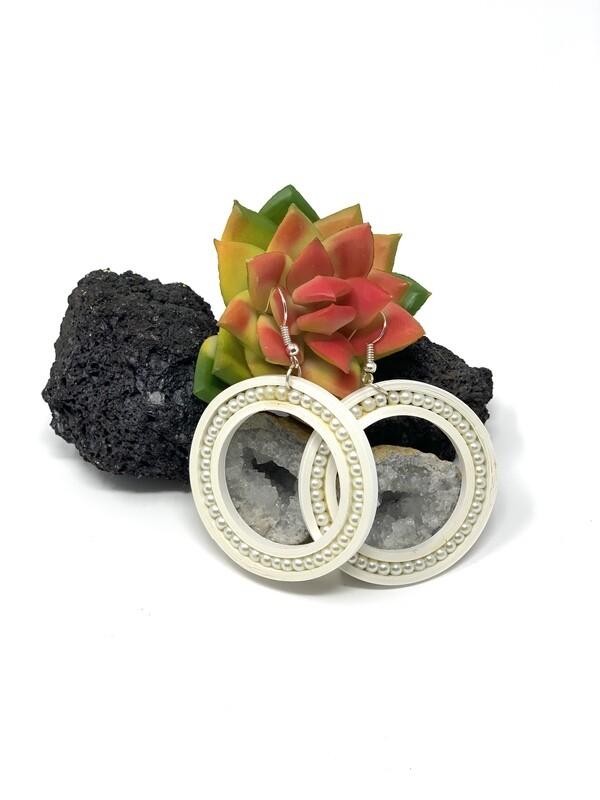 Earrings, Pearl Hoop