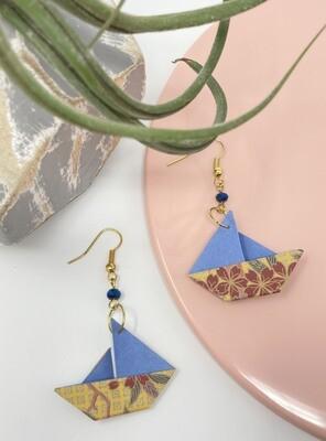 Earrings, Paper Boat