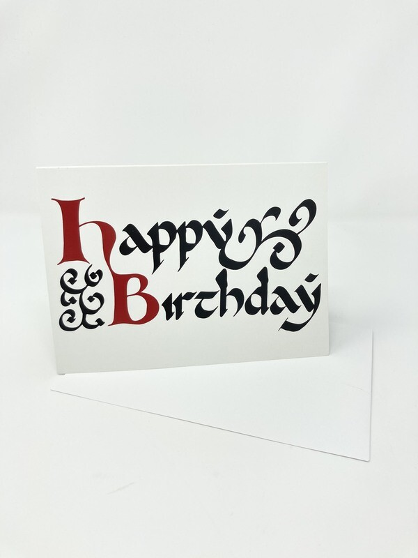 Endure Manuscripts Happy Birthday Card