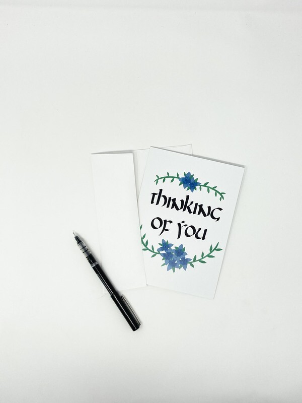 Endure Manuscripts Thinking Of You Card
