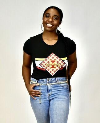Women's Black Diamond Tartan T-shirt
