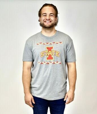 Men's Grey Strip Tartan T-shirt
