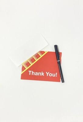 Tartan Thank You Card