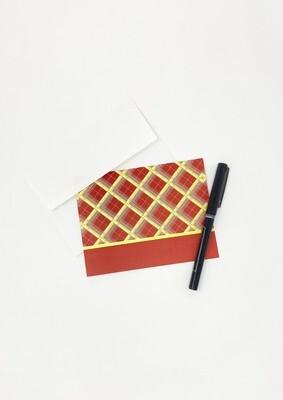 Tartan Blank Stripe Card