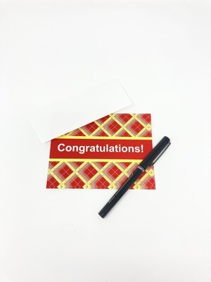 Tartan Congratulations Card