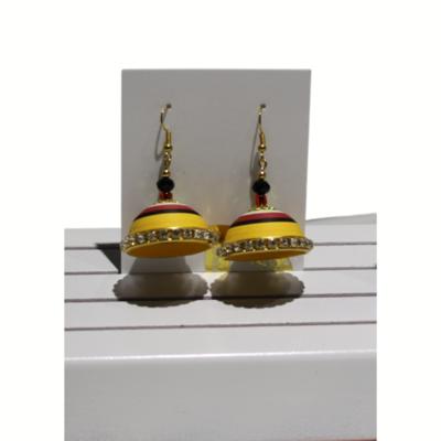 Earrings, Sunburst Jhumki