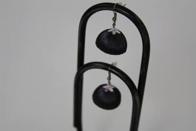 Earrings, Silk Chimes Grey