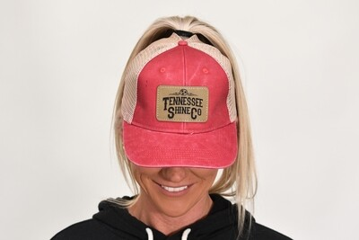 TSC Ponytail Hat Red