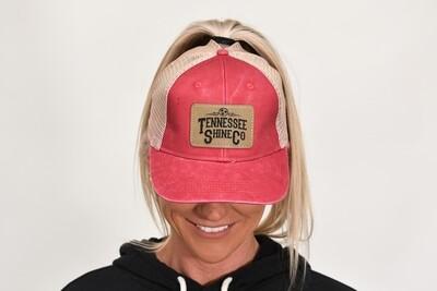 TSC Ponytail Hat Red