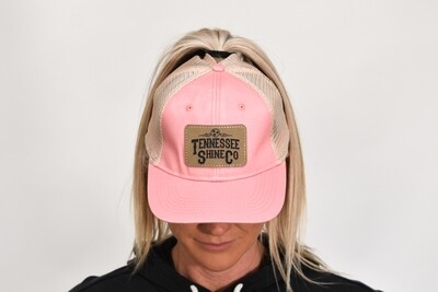 TSC Ponytail Hat Pink