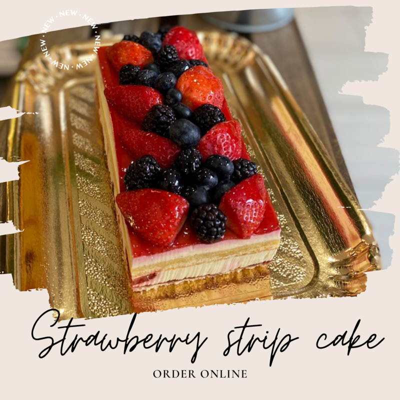 STRAWBERRY  STRIP CAKE