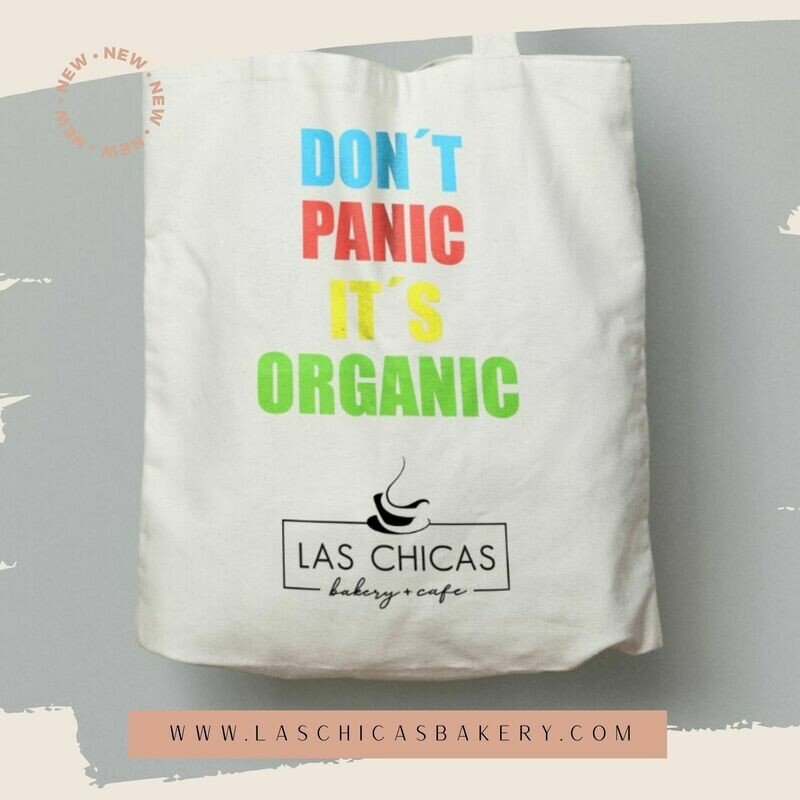 """""""DON´T PANIC"""" CANVAS TOTE BAG"""