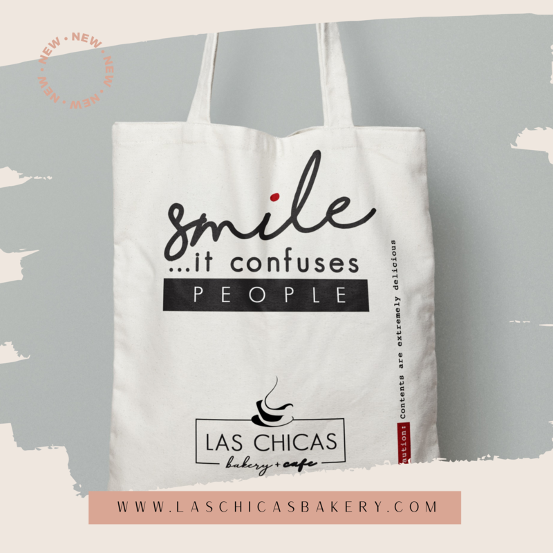 """SMILE"" CANVAS TOTE BAG"