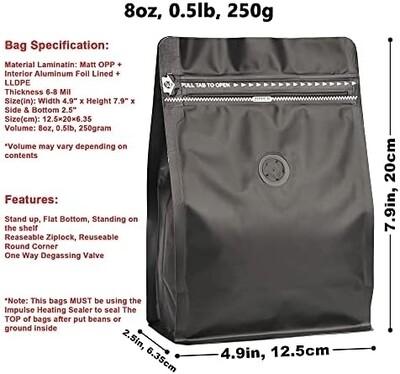 Tabak black bags (50 ct)