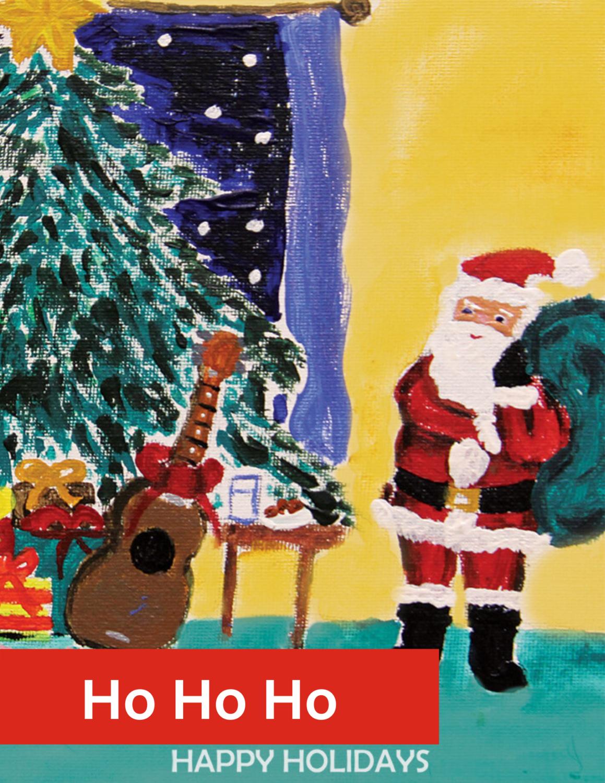 """""""Ho Ho Ho Happy Holiday"""" Holiday Greeting Card Set"""
