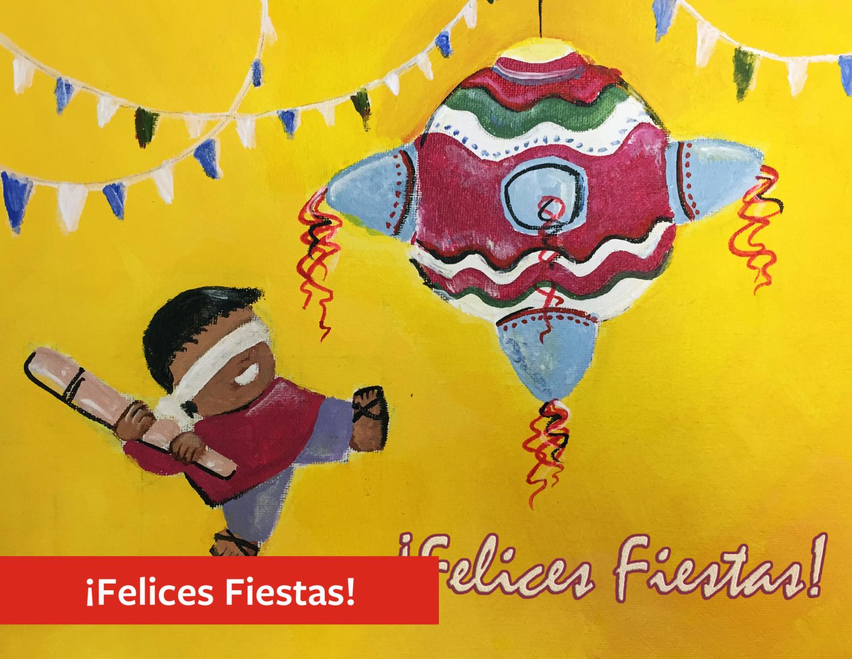 """Felices Fiestas"" Holiday Greeting Card Set"