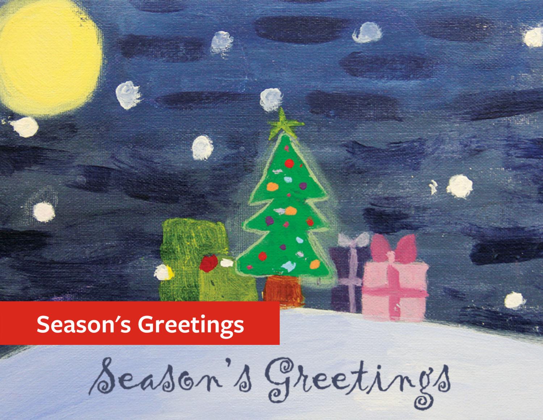 """""""Seasons' Greetings"""" Holiday Greeting Card Set"""
