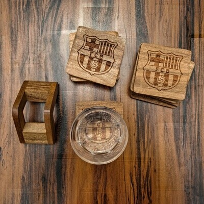 FC Barcelona - Natural Wooden Coasters