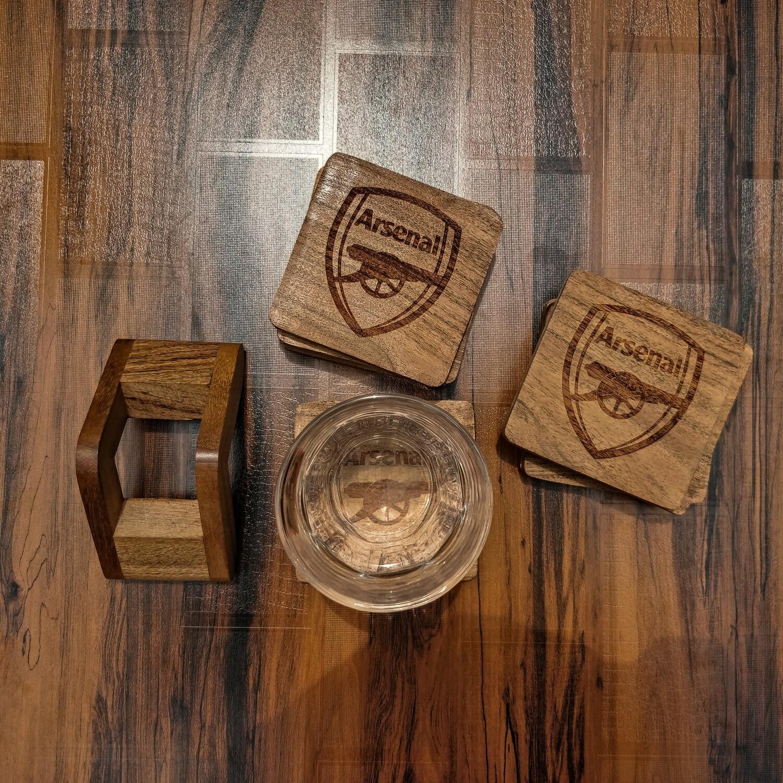 Arsenal FC - Natural Wooden Coasters
