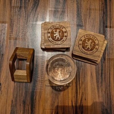 Chelsea FC - Natural Wooden Coasters