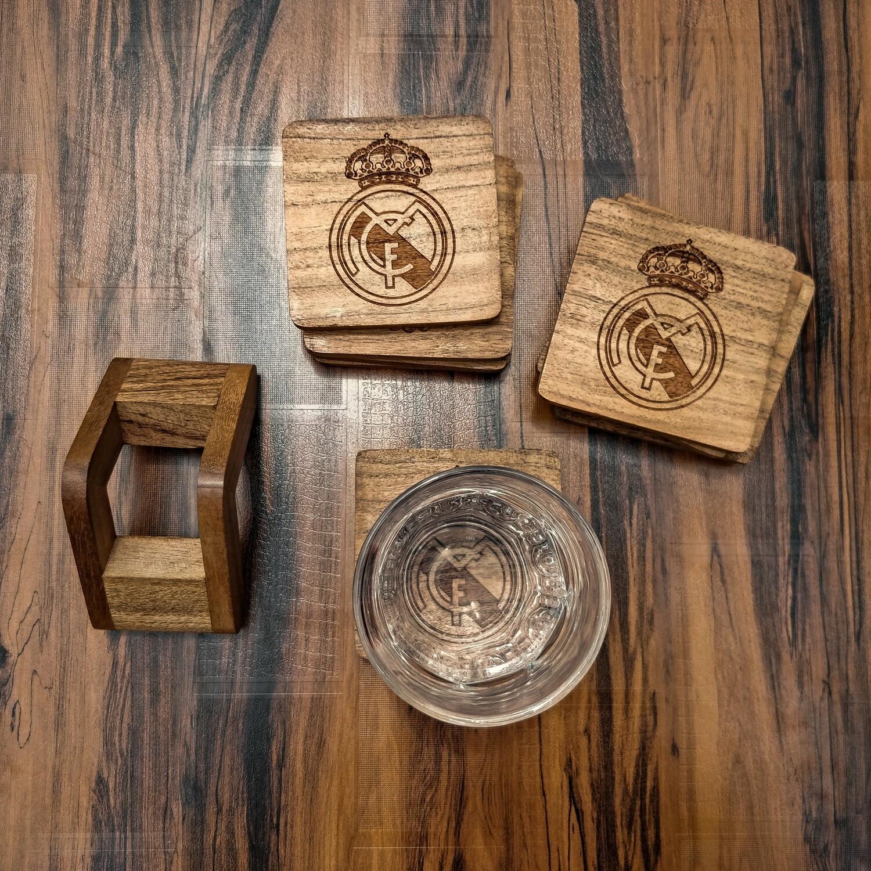 Real Madrid CF - Natural Wooden Coasters