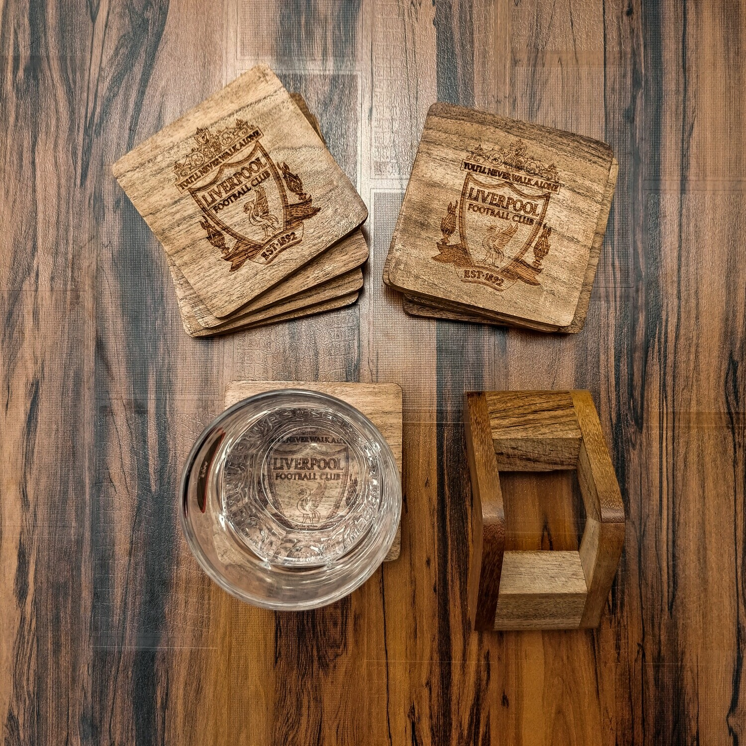 Liverpool FC - Natural Wooden Coasters