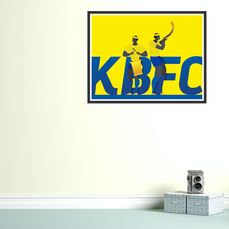 Kerala Blasters F.C. Graphic Wall Art