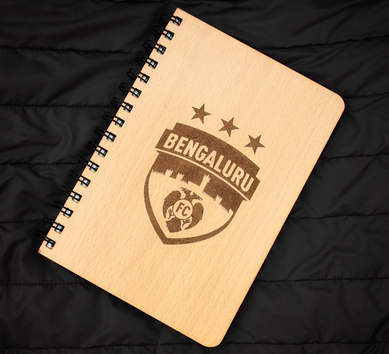 Bengaluru FC Diary Notebook with Engraved Wooden Cover