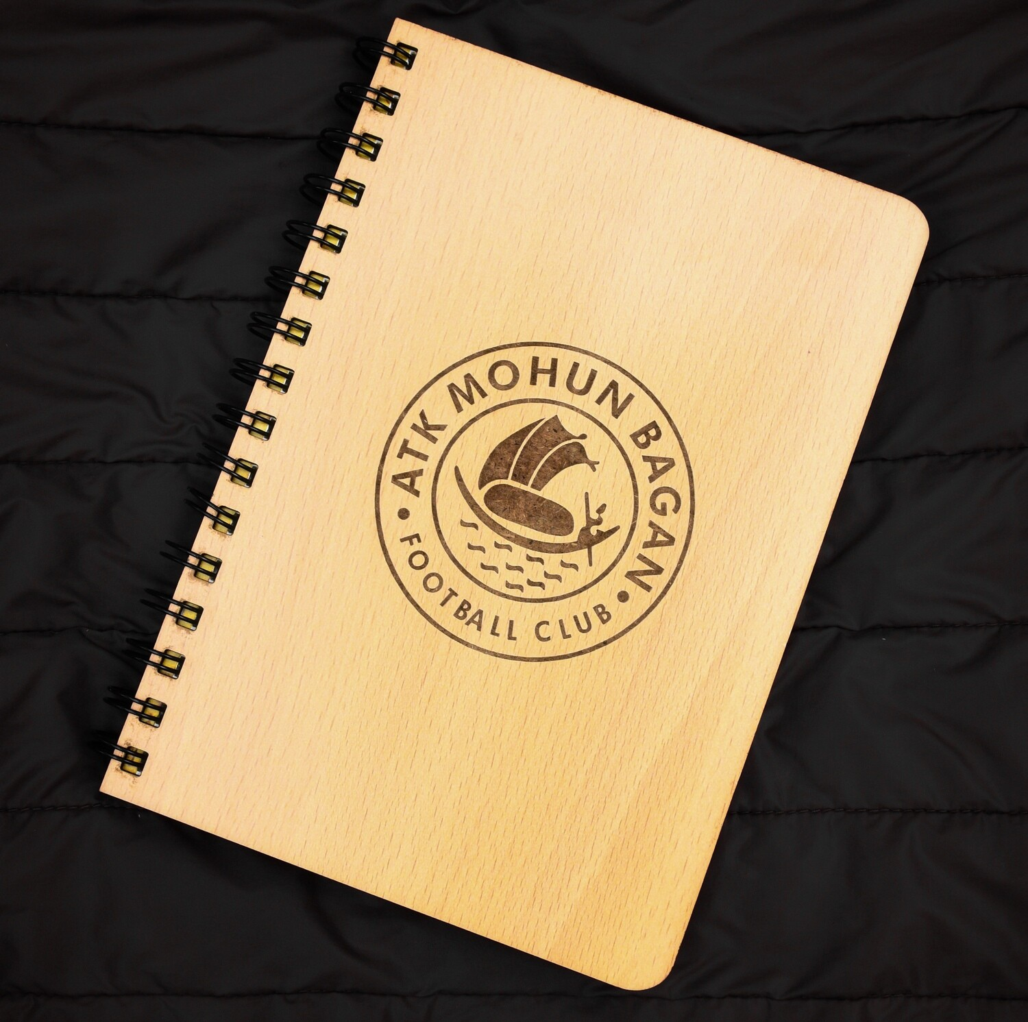 ATK Mohun Bagan Diary Notebook with Engraved Wooden Cover