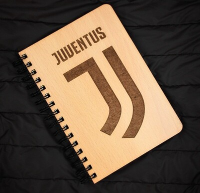 Juventus FC Diary Notebook with Engraved Wooden Cover