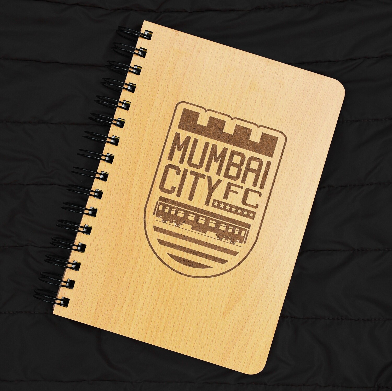 Mumbai City FC Diary Notebook with Engraved Wooden Cover