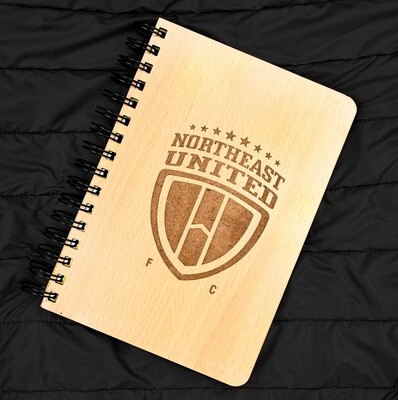 North East United FC Diary Notebook with Engraved Wooden Cover