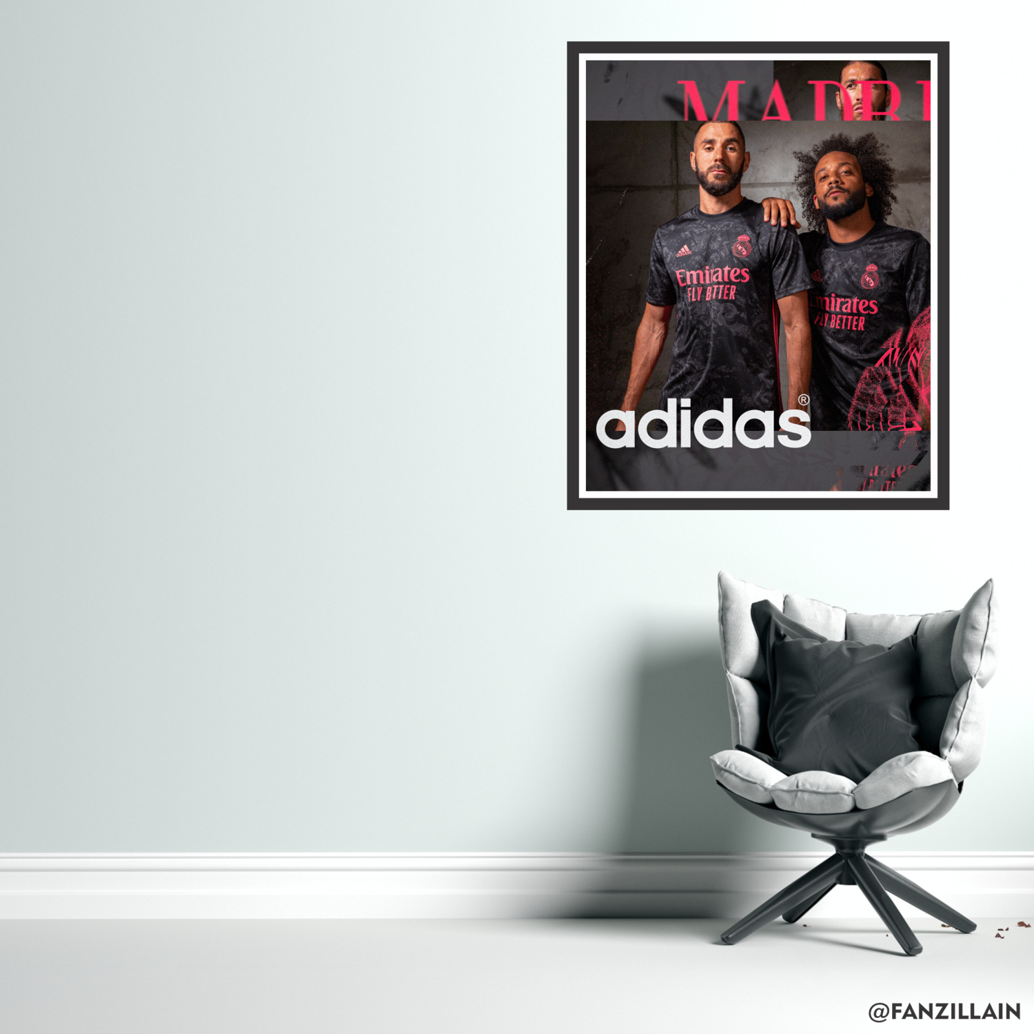 Benzema & Marcelo Wall Art Real Madrid