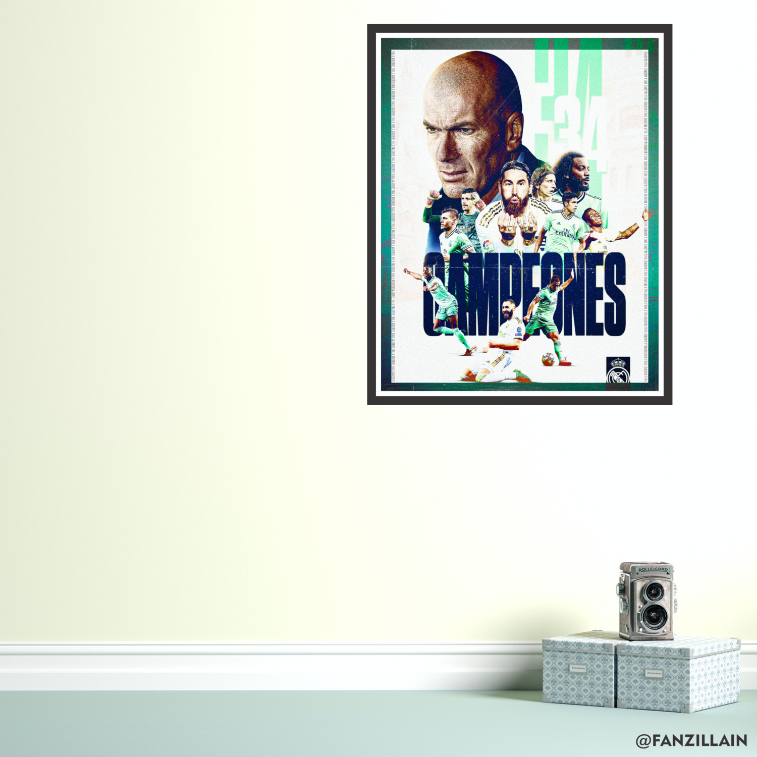 Real Madrid Champions Graphic Wall Art