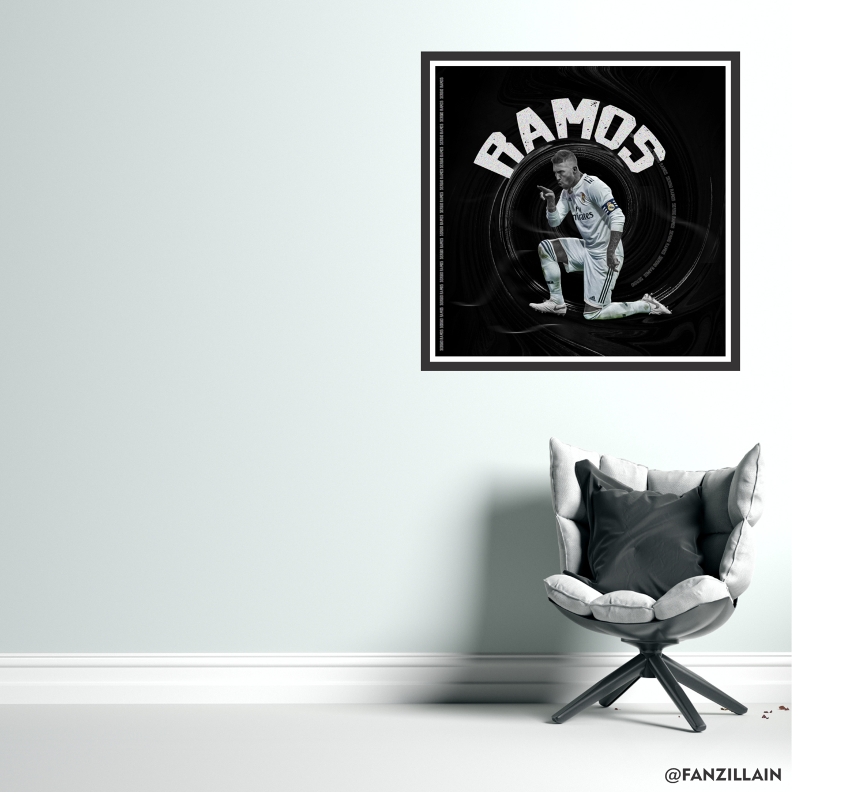 Ramos 'Storm' Graphic Wall Art Real Madrid